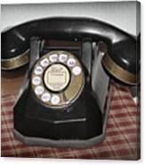 Vintage Rotary Phone Canvas Print