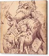 Vintage Santa Canvas Print