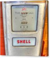 Vintage Shell Gas Pump Canvas Print