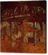 Vintage Sign 89c Canvas Print