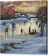 Vintage Skaters Canvas Print