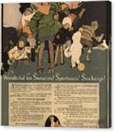 Sweaters Sportcoats And Stockings Vintage Soap Ad 1917 Winter Canvas Print