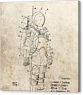 Vintage Space Suit Patent Canvas Print
