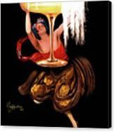 Vintage Sparkling Wine Advertisement Canvas Print