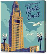 Cleveland Poster - Vintage Style Travel  Canvas Print