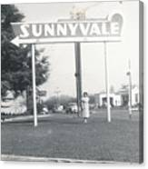 Vintage Sunnyvale Sign Canvas Print
