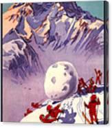 Vintage Swiss Travel Poster Canvas Print