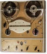 Vintage Tape Sound Recorder Reel To Reel Canvas Print