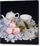 Vintage Tea Set Canvas Print