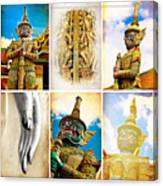 vintage Thai art style  Canvas Print