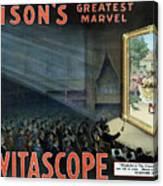Vintage Thomas Edison Print - The Vitascope Canvas Print