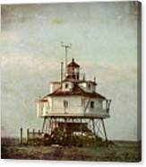 Vintage Thomas Point Shoal Lighthouse Canvas Print