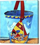 Vintage Tin Sand Bucket Canvas Print