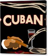 Vintage Tobacco Cuban Cigars Canvas Print