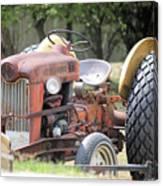 Vintage Tractor In Color Canvas Print