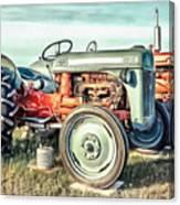 Vintage Tractors Pei Square Canvas Print