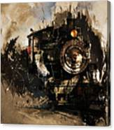 Vintage Train 06 Canvas Print