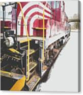 Vintage Train Locomotive Canvas Print