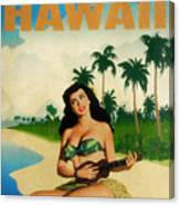 Vintage Travel Hawaii Canvas Print