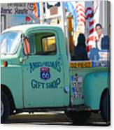 Vintage Truck with Elvis on Historic Route 66 Canvas Print