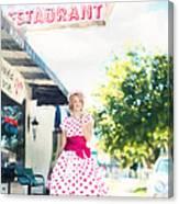 Vintage Val Ice Cream Parlor Canvas Print