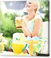 Vintage Val Iced Tea Time Canvas Print