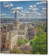 Vintage View Of The Cathedral Canvas Print