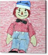 Vintage Volland Raggedy Andy Cloth Doll Canvas Print