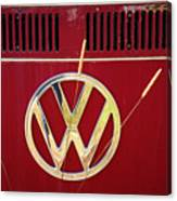 Vintage Vw Bus Logo Canvas Print