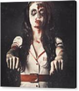 Vintage Walking Dead Horror Nurse Canvas Print
