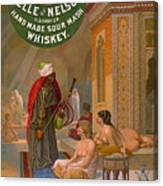 Vintage Whiskey Ad 1883 Canvas Print