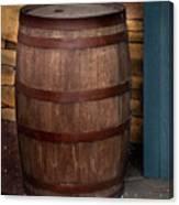 Vintage Wine Barrel Canvas Print