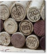 Vintage Wine Corks Canvas Print
