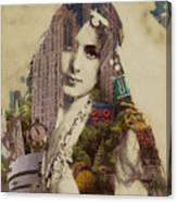 Vintage Woman Built By New York City 1 Canvas Print