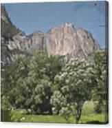 Vintage Yosemite Canvas Print