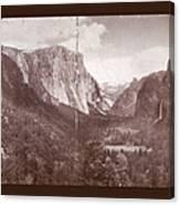 Vintage Yosemite Valley 1899 Canvas Print