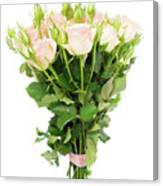 Garden Roses Bouquet Canvas Print