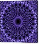 Violet Digital Mandala Canvas Print
