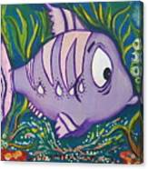 Violet Fish Canvas Print