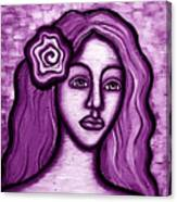 Violet Lady Canvas Print