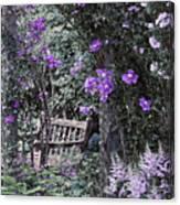 Violet Muted Garden Respite Canvas Print