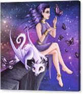 Violet Night Fantasy Canvas Print
