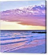 Violet Skies At Nighfall Canvas Print