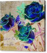 Violets Are Red- Roses Are Blue Canvas Print
