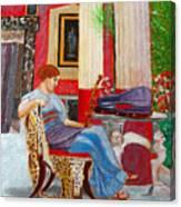 Violin Admirer Canvas Print