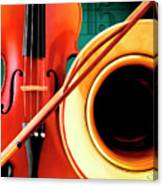 Violin And French Horn Canvas Print