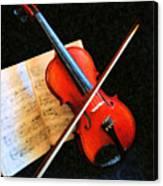 Violin Impression Canvas Print