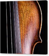 Violin Isolated On Black Canvas Print