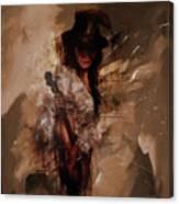 Violin Lady  Canvas Print