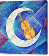 Violin-moon Canvas Print